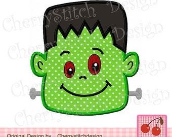 Halloween Frankenstein,Halloween scary machine embroidery applique HL0017- 4x4 5x7 hoop