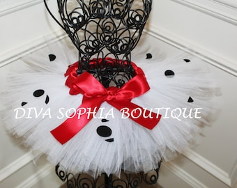 Dalmation Tutu - Halloween Costume- Please Read Shop Announcement