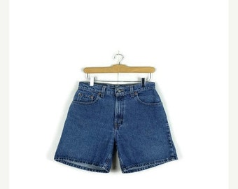 STORE WIDE SALE Free shipping!! Vintage  Levi's 551 High waist Denim Shorts from 80's/W28*