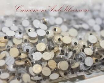 60 Pack Tiny Google Flat Back Craft Eyes 4mm & 5mm, Shaky Non-Adhesive Tiny Craft Eyes, Tiny Wiggle Craft Eyes