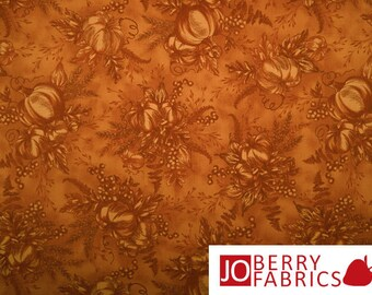Pumpkin Fabric, Harvest by Timeless Treasures, Quilt or Craft Fabric, Fabric by the Yard