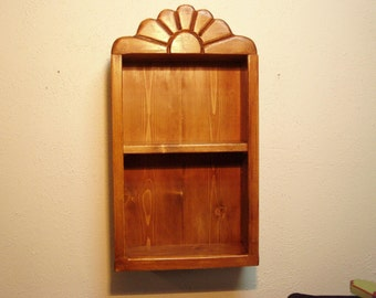 Handcrafted small southwest pine bookcase or display shelf