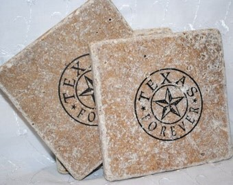 We specialize in unique texas coasters by epiphanysisters on etsy - Forever tile and stone ...
