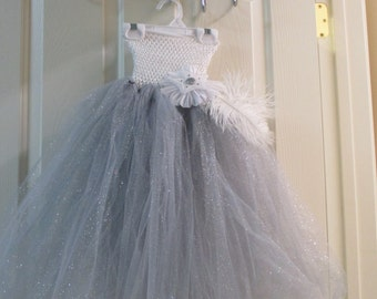 Silver Fairy Tutu Dress, Halloween Costume, Photo Shoot Dress, Fairy Costume, Silver Princess, Size 4 to 5 Fairy, Size 4 to 5 Princess