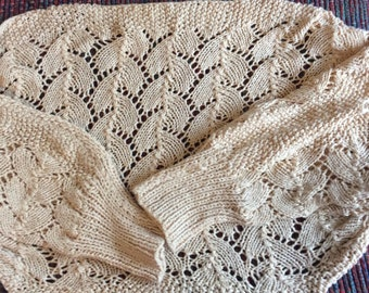 Hand Knit Lace Shrug