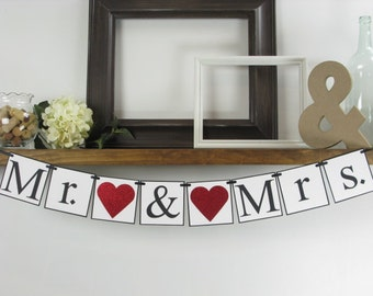 Mr. & Mrs. Banner, Wedding Banner, Wedding Prop, Wedding Decor