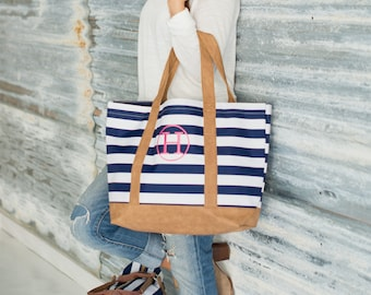 Sawyer Collection Bags - Monogrammed Weekender Bag - Monogrammed accessory bag - Monogrammed Tote - Monogrammed Navy bag
