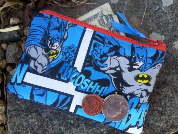 Boys zipper Wallet, Super Hero Coin Purse