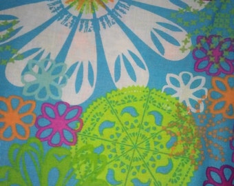 Colorful Floral Print Fabric (Sold by the yard)