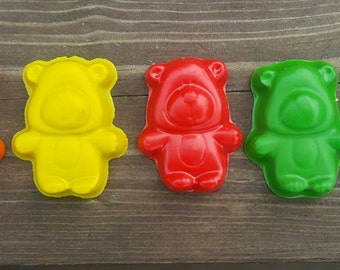 Teddy bear crayons set of 10 - party favors