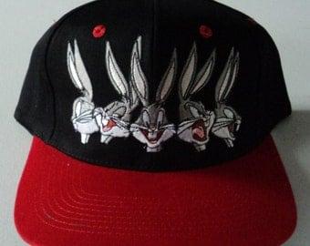 Vintage Bugs Bunny Looney Tunes Deadstock Snapback Hat VTG