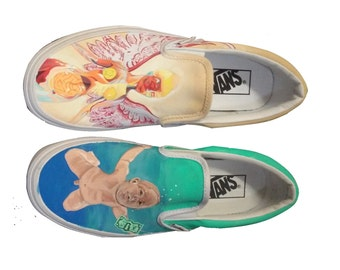 Nirvana Painted Shoes