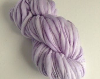 Handspun Thick and Thin Merino Yarn - 50 yds - Iced Lavender