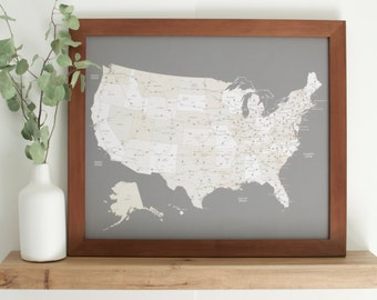 United States Map Etsy - Us map picture frame