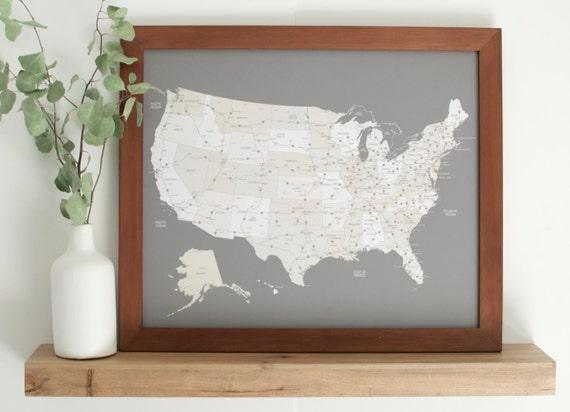 United States Map Travel Map Push Pin Map US Map Push Pin