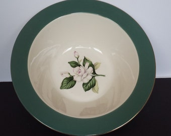 Homer Laughlin Emerald Serving Bowl