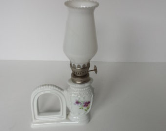 Miniature Oil Lamp with Picture Frame