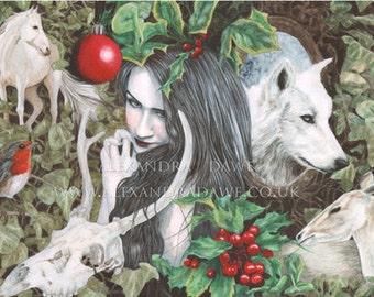Original Watercolour Painting- Noël