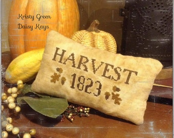 Primitive Harvest 1823 Pillow Tuck Stitchery