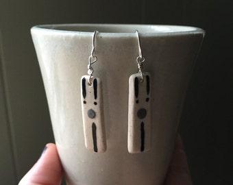Handmade, Ceramic Earrings