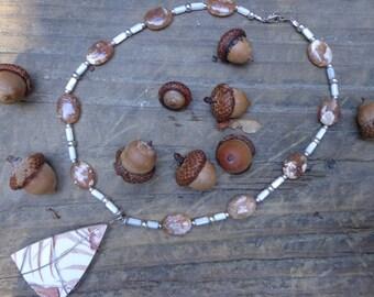 Brown Stripe Necklace