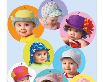 McCalls 6976, Infants hat sewing pattern, Hat pattern, New uncut pattern, OUT Of Print