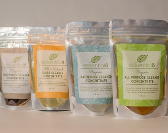 Organic Three Cleaner Concentrate Set, Choose Any Three Cleaners