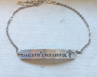 Medical alert bracelet, allergy bracelet gold bar bracelet, name bracelet, monogram, coordinates, latitude longitude, personalized cuff