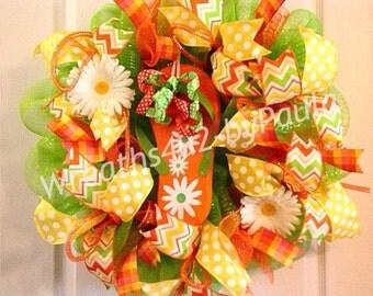 Summer Wreath/ Flip Flop Wreath/ Summer Deco Mesh Wreath/ Summer Door Decor