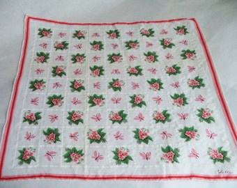 Flowers and Butterflies Handkerchief by Colette