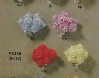 Satin Swirl Flower Faux Pearl Centered Weddings Bridal Shower Baby Shower You Pick Color