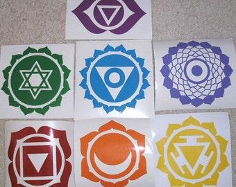 7 Chakra Vinyl Stickers