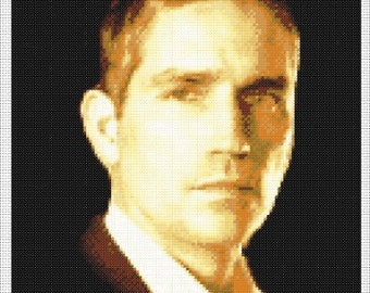 Jim Caviezel - John Reese - Person Of Interest Portrait Counted Cross Stitch Chart