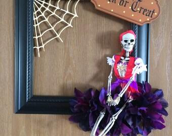 Pirate Girl Halloween Wreath