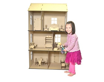 Craft Kit Doll House - Hearts Desire Doll House (Barbie Scale Size)