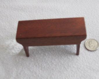 Shaker style mahogany bench