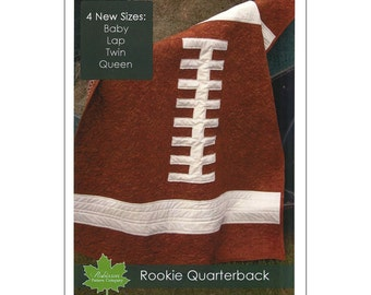 """Pattern """"Rookie Quarterback"""" Football Quilt Pattern / Instruction Booklet by Robinson Pattern Co. (RPC-P300)"""