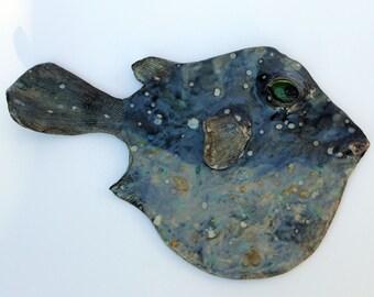 Blowfish VIII Ceramic Fish Wall Decor