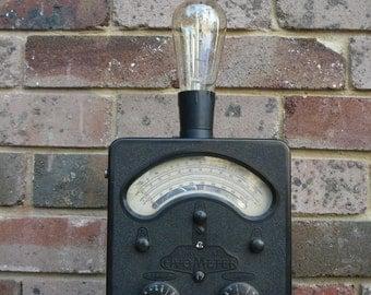 Vintage Industrial AVO Meter Steampunk Light