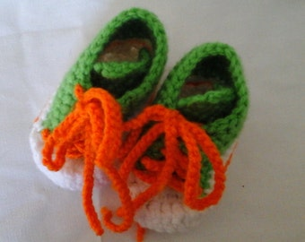 baby toddler infant childrens kids crochet tennis shoe slipper