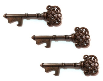 25 Vintage Skeleton Key Bottle Openers (KEYS ONLY)- Unique Wedding Favors, Wedding Decoration, Wedding Decor Party Favor - Bronze