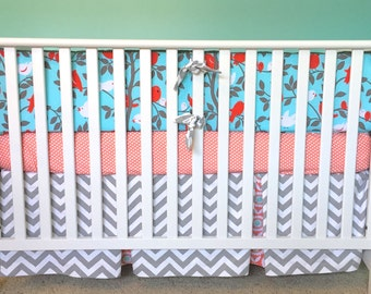 Custom crib bedding, baby bedding, Tweetie Pie