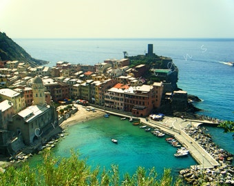 Cinque Terre Photography - Travel Photography - Beach Photography - Italy Photography - Vernazza - Italian Riviera - Wall Art - Home Decor