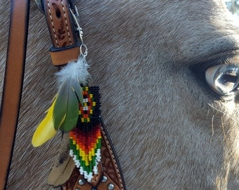horse mane hair styles arrowhead and feather equine mane or hair ornament 5694 | il 340x270.921996000 3tf7