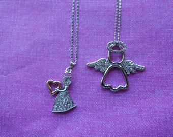 Angel crystal pendant necklaces