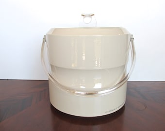 Vintage Mod Ice Bucket Lucite Lid And Handle, Vintage Modern Barware By Morgan, Bucket Brigade
