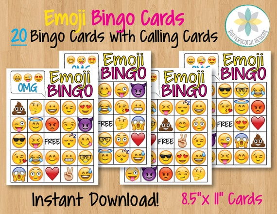 Emoji Birthday Party Bingo