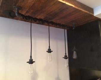 Cast-Iron Pipe Light Fixture