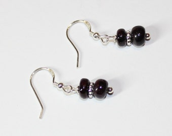 Ruby Earrings on Sterling Silver Earwires -  Birthstone for July - 40th Aniversary Stone - 15th Aniversary stone