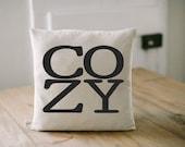 COZY 16 x 16 Pillow Cover, present, housewarming gift, cushion cover, throw pillow, cushion, valentine
